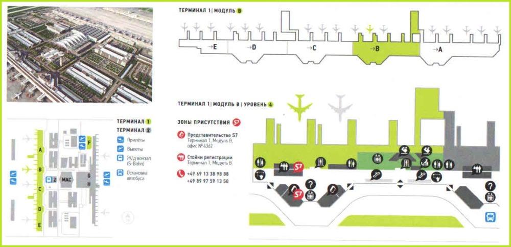 Схема аэропорта г. Мюнхен:
